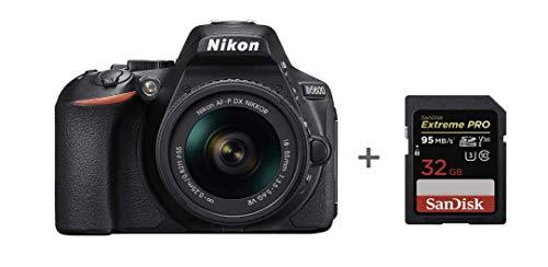 Nikon D5600 + AF-P 18-55 VR DSLR Camera,Black + SanDisk Extreme PRO 32 GB SD CARD