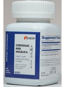 Corydalis and Angelica 100 softgels by Kanion
