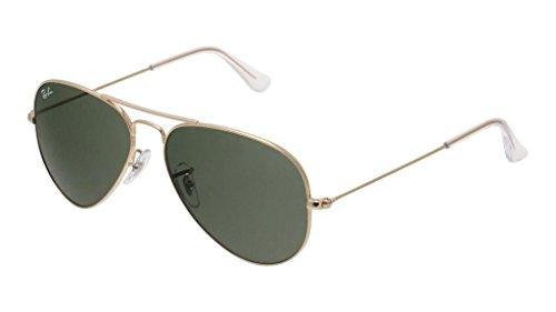 Ray Ban RB3025 W3234 55 Gold/Gray Green Large Aviator Sunglasses Bundle-2 ()