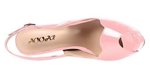 AOOAR - Plataforma Mujer Pink/Lackleder