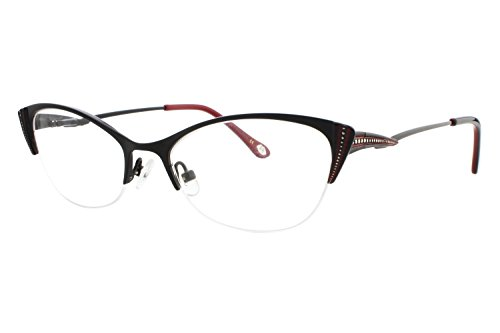 Lulu Guinness L764 Womens Eyeglass Frames - - Eye Semi Cat Eyeglasses Rimless