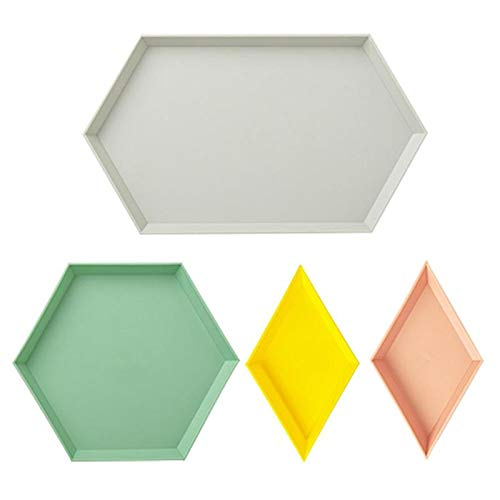 (Best Quality - Dishes & Plates - Set Storage Tray Nordic Style Polygon Desktop Combination Tray Geometric Fruit Snacks Dish Plate Afternoon Tea Tableware Plate - by Tini - 1 PCs)