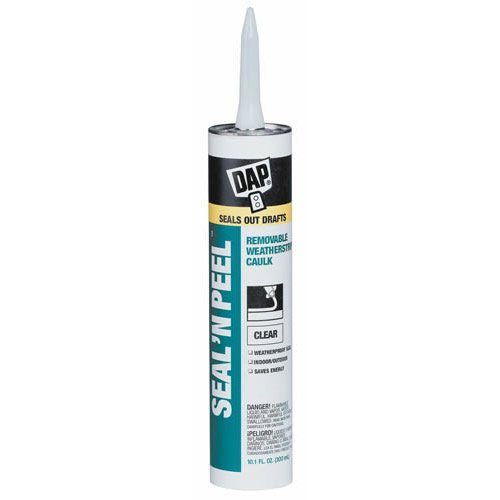 Dap 18324 Seal 'N Peel Removable Caulk, 10.1-Ounce 6248785
