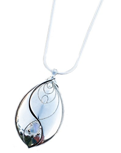 (EMF Protection Pendant by Chi-O-Phi® - Harmonize your being and protect yourself from unsettling EMF with this revolution of Active Jewelry (Silver))