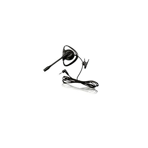 SpeakEasy Corded Over the Ear Handsfree Boom Headset - Compatible with 3.5mm and 2.5mm Phones - iPhone, Samsung Galaxy, Android, HTC, LG - Also for Cordless Phones