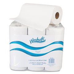 ** Paper Towel Roll, 11'' x 8 4/5'', White, 72/Roll, 6 Rolls/Pack **