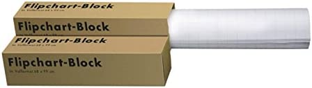 Landre 100050592 Flip-Chart-Blöcke, Vollformat 68 x 99 cm, 20 Blatt, 80 g/qm, 20 Stück (4 Kartons)