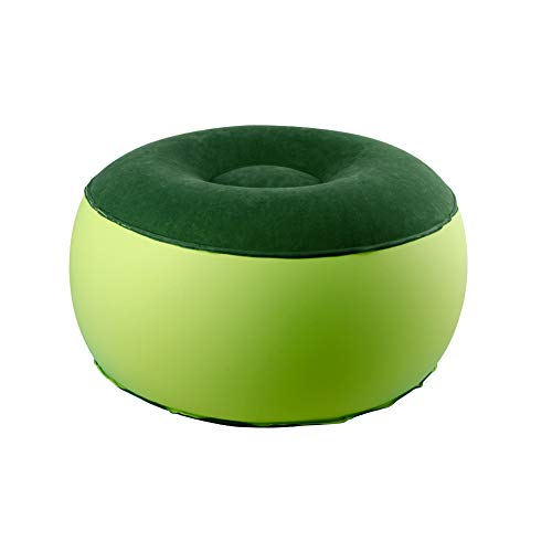 ZHUIQU Portable Air Chair Durable Balance Outdoor Camping Chair Inflatable Stool Round Shape Fashion Home Furnishing for Healthy Parent-Child Play Home Office Yoga(Green)