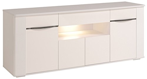 High Gloss Sideboard With Led Lights - 5