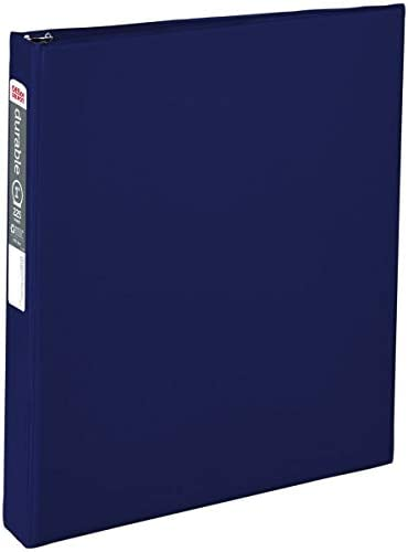 """OfficeMax Durable Reference Binders with Round Ring 1"""", Blue"""