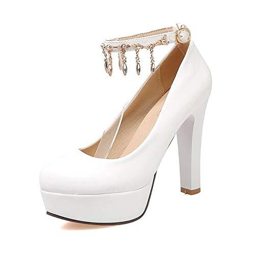 Rosa De Verano Tacones Polivinilo Talón Primavera Negro De Zapatos QOIQNLSN PVC Stiletto White El Y Mujer Cloruro Blanco 1wnYqA