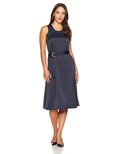 ELLEN TRACY Women's Petite Size D-Ring Column Dress, Night Sky 2P