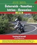 Freytag Berndt Motorradatlas, Österreich -Venetien - Istrien - Slowenien 1:200.000