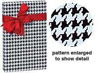 Houndstooth Gift - Premium All Occasion Black & White Houndstooth Gift Wrap Wrapping Paper 16 Foot Roll