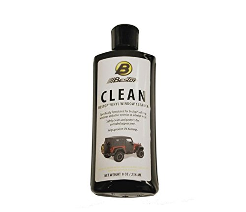 Bestop 11203-00 Vinyl Window Cleaner, 8 oz. bottle (Cleaner Jeep Top Soft)