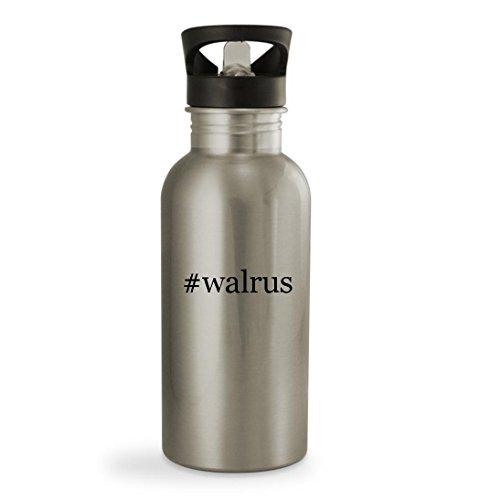 #walrus - 20oz Hashtag Sturdy Stainless Steel Water Bottle, Silver - Beatles Walrus Costume