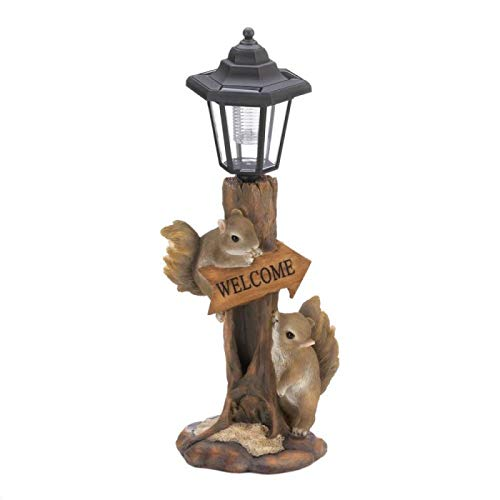 - Tom & Co. Friendly Squirrels Solar LAMP