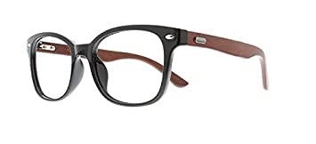 7b45c724b81 Image Unavailable. Image not available for. Color  EyeBuyExpress Bifocal  Reading Glasses Black Wood Texture Full Rim Men Women Retro Style