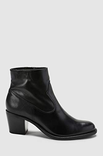 Noir Femme Next Cuir Style Bottines Western FAFHwxIq