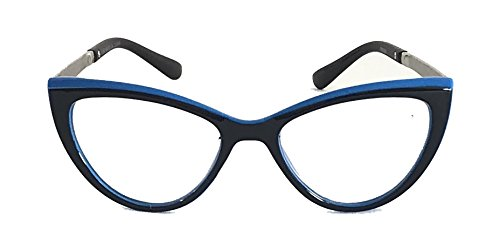 Retro Cat-Eye Reading Glasses R9086 (Black/Blue, - Amazing Cat Eyes