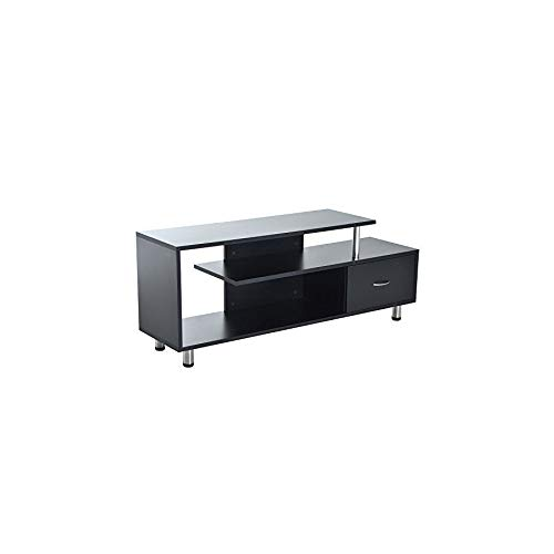 """Price comparison product image MRT SUPPLY 60"""" Media Center Flat Screen TV Stand with Single Drawer Storage - Black with Ebook"""