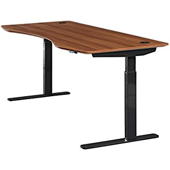 """ApexDesk Elite Series 71"""" W Electric Height Adjustable Standing Desk (Standard 2-Button Controller, Red Apple Top, Black Frame)"""