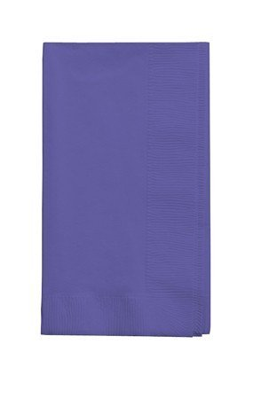 Creative Converting Purlple 50 gorgeous Purple Dinner Napkins for Wedding, Party, Bridal or Baby Shower, Disposable Bulk Supply Quality! ()