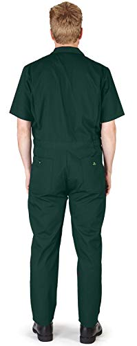 NATURAL WORKWEAR - Mens Regular and Big Sizes Short Sleeve Coverall, Green 40589-X-Small by NATURAL WORKWEAR (Image #1)