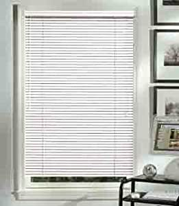 Graber 1 Horizontal Aluminum Mini Blinds Color White 86 Wide By 72 Long Home