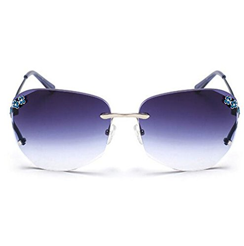 My Monkey Womens Fashion Polarized Gradient Lens Small Frame Warfarer Sunglasses Blue