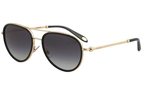 Tiffany & Co. TF3059 TF/3059 6105/3C Black/Rose Gold Pilot Sunglasses - Tiffany Gold Sunglasses Aviator