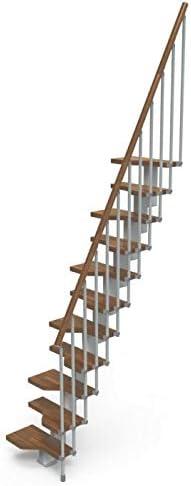 Gamia - Escalera de escalera (tamaño pequeño, 11 peldaños), color gris: Amazon.es: Bricolaje y herramientas