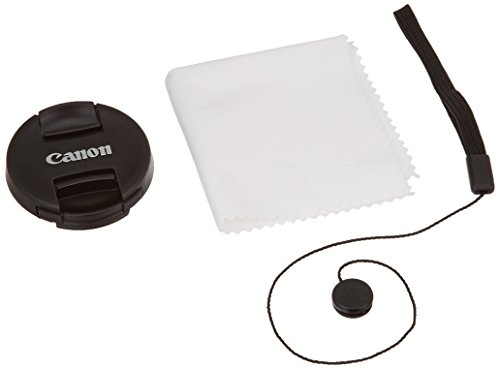 52mm Snap-On Lens Cap replaces E-52 II for Canon EOS Lenses, with Lens Keeper - Black - E-52II