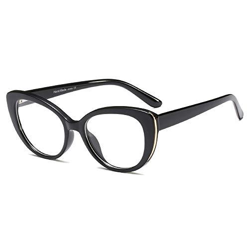 Womens Quality Readers Stylish Oversized Cat Eye Custom Reading Glasses (Black, 1.5) (Vogue Cat Eye)