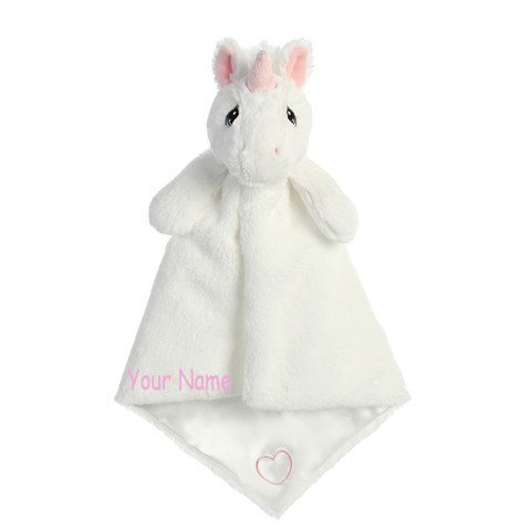 Personalized Sparkle Unicorn Luvster Plush Stuffed Animal Snuggle Baby Blanket Gift