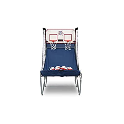 Pop-A-Shot New Official Home Dual Shot Basketball Arcade Game – 16 Individual Games – Durable Construction – Near 100% Scoring Accuracy – Multiple Height Settings – Large LED Scoring System : Sports & Outdoors