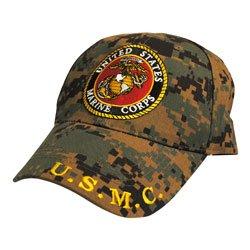 Eagle Emblems CP00324 U.S. Marine Corp Logo Cap Digital Camo
