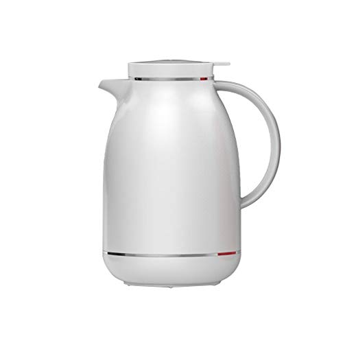 Moolo Double Walled Vacuum Insulated Coffee Jug Household Insulation Pot Glass Liner Kettle Screw Top Vacuum Jug for Juice Milk Tea (Color : ()
