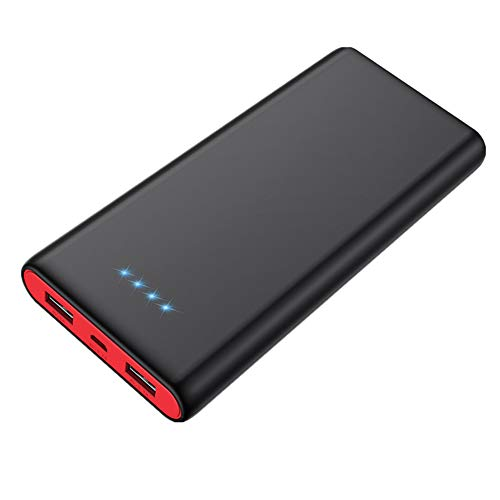 Portable Charger Power Bank [25800mAh Newest Fashion] Huge Capacity External Battery Pack Dual Output Port with LED Status Indicator Power Bank for iPhone, Samsung Galaxy, Android Phone,Tablet & etc
