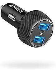 Anker PowerDrive Speed 2 Autolader, 39 W, 2-poorts autolader met Quick Charge 3.0 en PowerIQ voor Samsung Galaxy/Note/S9, iPhone, iPad, HTC, LG, smartphones, tablets, powerbank en meer