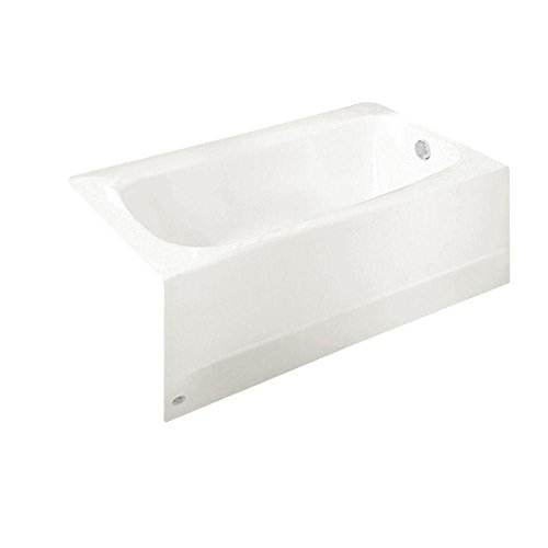 American Standard 2461.102.020 Cambridge 5-Feet Bath Tub with Right-Hand Drain, White - Enameled Steel Bathtub