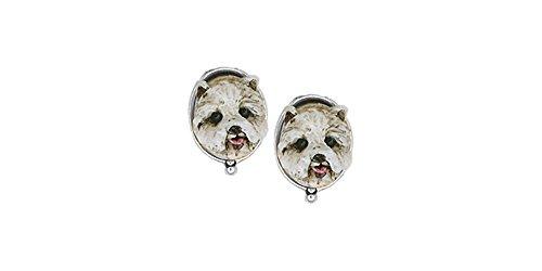 Westie Earrings Jewelry Sterling Silver Handmade West Highland White Terrier Earrings WS9-E