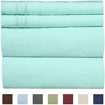 Extra Deep Pocket Sheets - 4 Piece Sheet Set - King Size Sheets Deep Pocket - Extra Deep Bed Sheets - Deep King Fitted Sheet Set - Super and Ultra Deep Sheets - For Deep Pockets Mattress - Fits Easily