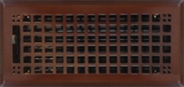 6'' x 10'' (7.625'' x 11.625'' Overall) Oil-Rubbed Bronze Mission Register with Damper (HVAC VENT COVER)