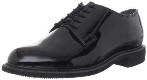 Bates Men's Bates Lites High Gloss Uniform Oxford, Black, 7 D US