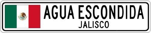 custom-street-sign-agua-escondida-jalisco-mexico-flag-city-sign-4x18-inches-aluminum-metal-sign