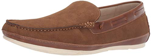 Unlisted by Kenneth Cole Men's REGOTTA Slip ON Boat Shoe Tobacco 10.5 M US