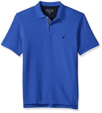 Nautica Men's Classic Fit Short Sleeve Solid Polo Shirt, Cobaltwave, Small