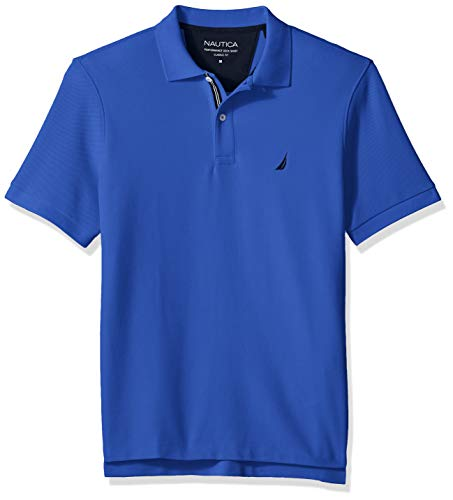 Nautica Men's Classic Fit Short Sleeve Solid Polo Shirt, Cobaltwave XX-Large