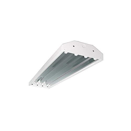 Four Bros Lighting HB-4/T5 4 Bay Lighting 4-Lamp Fluorescent Fixture High Output T5 HO, 120-277V Lighting Fluorescent Lamp
